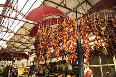 Frucht, Gemüse und Blumen im Markt, das Mercado DOS Lavradores oder der Markt der Arbeitskräfte Stockbilder