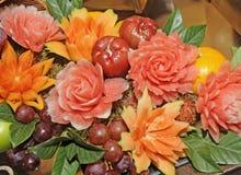 Frucht geschnitzt stockfoto