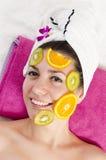 Frucht-Gesichtsbehandlungs-Maske Lizenzfreies Stockbild