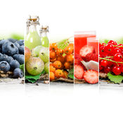 Frucht-Getränk-Mischung Lizenzfreies Stockfoto