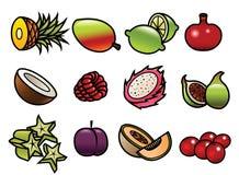 Frucht-Ikonen Stockfoto