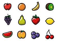 Frucht-Ikonen Stockfotografie