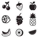 Frucht-Ikonen Lizenzfreie Stockbilder