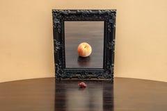 Frucht im Spiegel stockfotografie
