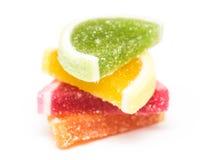 Frucht Jelly Top Group Isolated Stockbilder