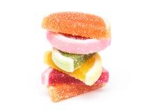 Frucht Jelly Top Group Isolated Stockbild