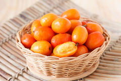 Frucht Jocote (Rotes, Purpurrotes Mombin, Siriguela, Schwein-Pflaume, Sineguela Stockfoto