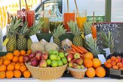 Frucht Juice Bar Lizenzfreies Stockbild