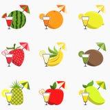 Frucht Juice Icon Stockfotos