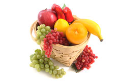 Frucht-Korb Stockbilder