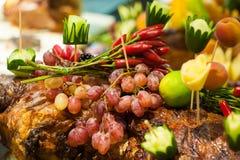 Frucht-Kunst und Lebensmittel-Schmücken Stockbild