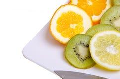 Frucht-Mehrlagenplatte Lizenzfreies Stockbild
