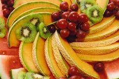 Frucht-Mehrlagenplatte stockfotografie