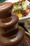 Frucht, Schokoladenbrunnen Stockfoto