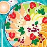 Frucht-Servierplatte Stockfoto