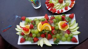 Frucht-Servierplatte Stockbilder
