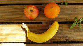 Frucht Smiley Face Lizenzfreie Stockfotos