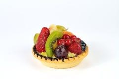 Frucht tarte auf weißem Hintergrund Stockfotografie
