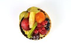 Frucht tarte und weißer Hintergrund Lizenzfreies Stockfoto
