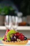 Frucht tarte von der Seite 3 Stockfotografie