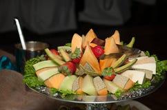Frucht-Teller Stockbild