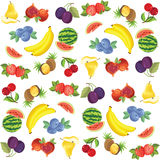 Frucht- und Beerenmuster Stockfotografie