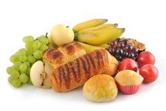 Frucht und Brot lizenzfreie stockfotografie