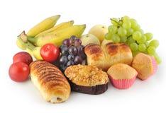 Frucht und Brot lizenzfreie stockfotos
