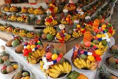 Frucht und Buffet der tropischen Frucht stockfoto
