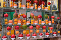 Frucht- und Juicebar-Fensteranzeige Lizenzfreie Stockbilder