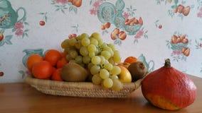 Frucht und Kürbis lizenzfreie stockfotos