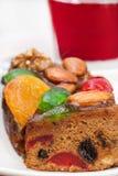 Frucht-und Nuss-Kuchen stockfotografie