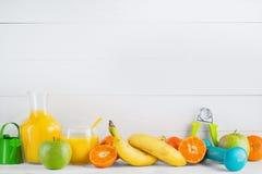 Frucht und Saft Stockfotos