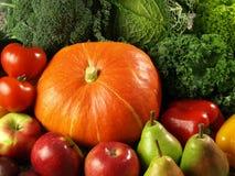 Frucht und vegetabe Hintergrund Stockbilder