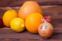 Frucht- und Wachsbogen stockfoto