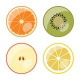 Frucht - vektorweb-Ikonen (Tasten) Lizenzfreie Stockfotografie