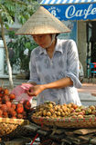 Frucht-Verkäufer, Hanoi, Vietnam Stockfotografie
