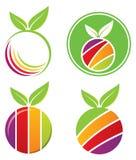 Frucht-Zeichen-Set Stockfoto