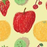 Frucht-Zeichnungs-Muster stockfotografie