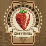 Fruchtaufkleber Stockfoto