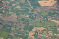 Fruchtbares Ackerland - Chile Stockbild