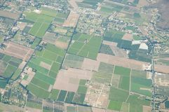 Fruchtbares Ackerland - Chile Stockbilder