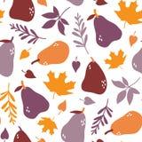Fruchtbirnen-Herbstgarten lizenzfreie stockfotos