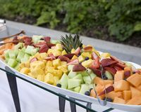 Fruchtbuffetmehrlagenplatte Stockfotografie