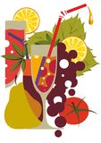 Fruchtcocktail Stockfoto