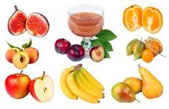 Fruchtcollage lizenzfreie stockfotos
