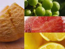 Fruchtcollage lizenzfreie stockbilder