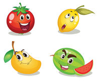 Fruchtgesichter Stockfoto