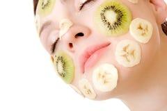 Fruchtige Gesichts-Behandlung lizenzfreies stockfoto