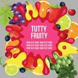 Fruchtige Schablone Tutty Lizenzfreies Stockfoto